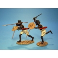 MAD02 Two Beja Warriors Charging
