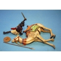 MADCAM02 Beja Warrior and wounded camel
