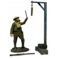 """BR23115 Pre Order Gas Alarm"""" British Soldier with Gas Mask Sounding Alarm"""